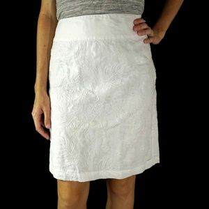 Tommy Bahama Womens Skirt Sz 16 White Embroidered